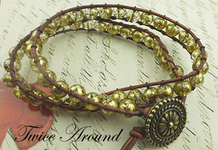 Twice Around Leather Bracelet