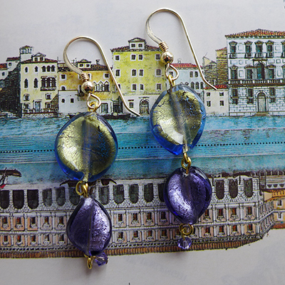 Make these Rich and Colorful Twist Murano Glass Earrings