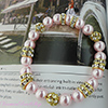 Pink Pearls & Crystals Stretch Bracelet