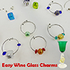 Murano Glass Wine Charms