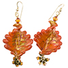 Orange Ca'd'oro Twisted Earrings