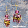 Pink Lace Millefiori Earrings