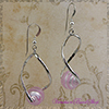 Silver Pink Easy Twist Earrings