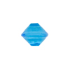 Venetian Bead Bicone Cut 13x11mm Transparent Aqua