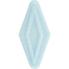Venetian Bead Double Diamond 50mm Opaque Celeste