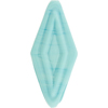 Venetian Bead Double Diamond 50mm Opaque Turquoise