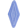 Venetian Bead Double Diamond 50mm Pervinca Blue