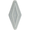 Venetian Bead Double Diamond 50mm Opaque Gray