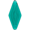 Venetian Bead Double Diamond 50mm Transparent Sea Foam Green