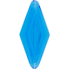 Venetian Bead Double Diamond 50mm Transparent Aqua