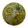 Green Mosaics Basilica Exterior 24kt Gold Foil Disc 16mm Murano Glass Bead