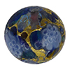 Blue Mosaics Basilica Exterior 24kt Gold Foil Disc 16mm Murano Glass Bead