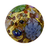 Basilica Multi Mosaics Exterior 24kt Gold Foil Disc 16mm Murano Glass Bead