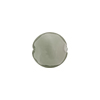 Caramella Style Murano Glass Disc Bead, 12mm, Gray