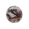 Murano Glass Disc, Carnevale Design Aventurina,Amethyst and Chocolate