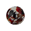 Murano Glass Disc, Carnevale Design Aventurina, Red and Chocolate