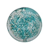 Ca'd'oro Murano Glass White Gold Foil Flat Coin, 14mm, Light Verde Marino