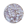 Pale Amethyst, Purple with White Gold Foil Ca'd'Oro Lentil Bead, 14mm Murano Glass Bead