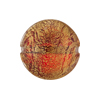 Murano Glass Beads Ca'd'Oro Disc 20mm Ruby Cracked Gold