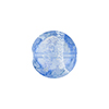 Blue Silver Sparklers Disc Dichroic Murano Glass Bead, 14mm