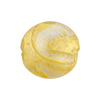 Murano Glass Bead Carnevale Dichroic Disc 20mm Exterior Gold and Silver