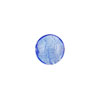 Murano Glass Silver Foil Puffy Disc, 10mm, Light Blue
