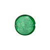 Murano Glass Bead White Gold Foil Disc 14mm Emerald
