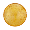Murano Glass Disc Bead, Amber 24kt Gold Foil, 18mm