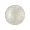 Clear White Gold Foil Murano Glass Lentil Disc 20mm