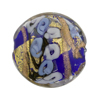 Cobalt & Blue Bed of Roses Disc 25mm Venetian Glass Bead