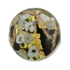 Black & Gray Bed of Roses Disc 25mm Venetian Glass Bead