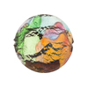 Multi Colors White Gold Foil Machiavelli Venetian Glass Bead Disc 23mm