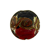 Red and Black with Aventurina and 24kt Gold Foil Mare Disc 20mm Murano Glass Bead