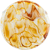 Topaz Ca'd'oro Coin with Top Holes 40mm Murano Glass Bead