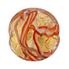 Murano Glass Bead Monet Disc Gold Foil 25mm  Red
