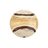 Disc 20mm Avorio, Off White with Reticello and 24kt Gold Foil Murano Glass Bead