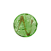 Murano Glass Bead Silver Aventurina Disc 16mm Peridot