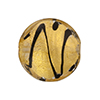 Murano Glass Bead Black ZigZag Disc 24kt Gold Foil 21mm Clear & Black