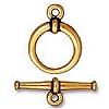 Gold Plated 15mm Tapered Pewter Toggle Clasp