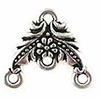 Pewter Floral Link TierraCast Antique Silver