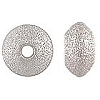 .925 Sterling Silver Sparkle Saucer Bead, 4.5mm