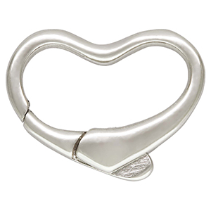 Sterling Silver Heart Shaped Italian Clasp 11x15mm