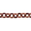 Copper Plated Oxidized Rolo Chain, 3.5mm, Per Foot
