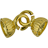 Gold Plated Large Fancy Open Circle Clasp with 50 Strand Cap