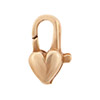 Bronze Cast Heart-Shaped Clasp, 6mm x 12mm
