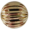14/20 Gold Filled Round Straight Corrugated Bead, 10mm