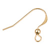 14/20 Gold Filled Earwire, Flat w/3mm Ball