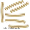 Gold Filled Curved Tube Bead, 1.5x10mm, Per Piece