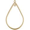 Gold Fill Teardrop 20x31mm with Closed Rings, 1/20 14kt Gold Per Piece