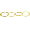 Premium Flat Oval Cable Chain, 2mm x 3mm Natural Brass